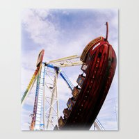 pirate ship Canvas Prints featuring Pirate Ship by Judith Kimber Photography