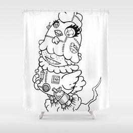 niwatori [Chicken] Shower Curtain
