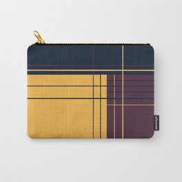 Abstract graphic I Dark blue Purple Yellow Carry-All Pouch