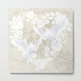 doves love couple Metal Print