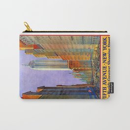 New York, vintage poster Carry-All Pouch