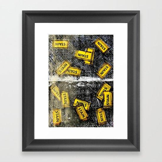 StaineD Framed Art Print