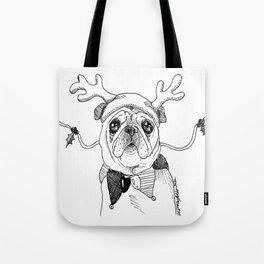 Jingle Pug Tote Bag