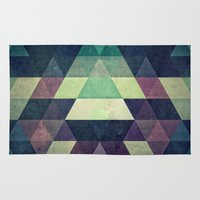spires Area & Throw Rugs featuring dysty_symmytry by Spires