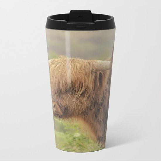 'Hamish' The Highland Cow Metal Travel Mug