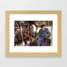 The Train Driver  Framed Art Print