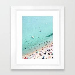 Beach Day Framed Art Print
