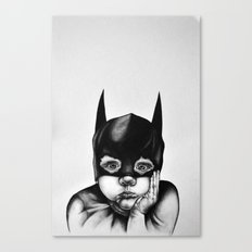 Waiting For a Hero (Bat Boy) Canvas Print