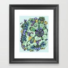 Leafy greens Framed Art Print