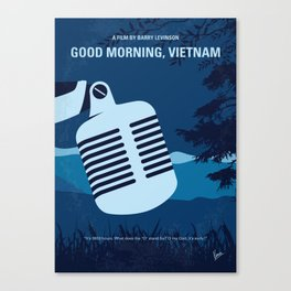 No811 My Good Morning Vietnam minimal movie poster Canvas Print