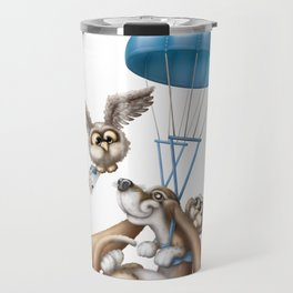 Flying basset Travel Mug