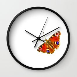 The Peacock butterfly (2) Wall Clock