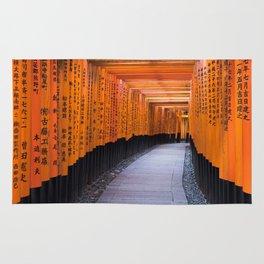 Torii of Fushimi Inari shrine in Kyoto Rug