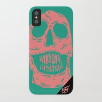 skulls iPhone & iPod Cases featuring skulls by Mike Bauer