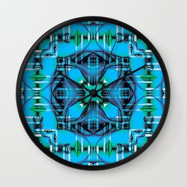 Pattern of graphic faces Wall Clock