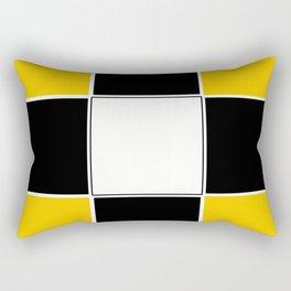 TEAM COLORS 3...BLACK ,YELLOW Rectangular Pillow