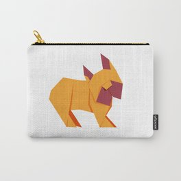 Origami French Bulldog Carry-All Pouch