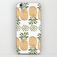 pineapples iPhone & iPod Skins featuring Pineapples by Bouffants and Broken Hearts