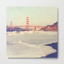 Golden Gate Bridge. Love Song Metal Print