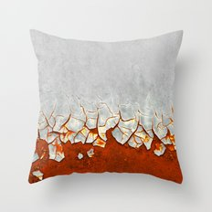 Rust and Grey Throw Pillow