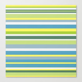 Beach Style Stripes Canvas Print