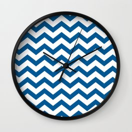 Navy Chevron Wall Clock