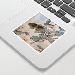 Jasmine And Butterflies Sticker