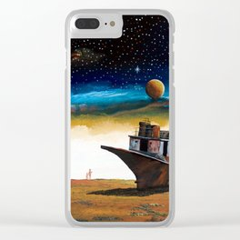 Terrible sight 3 of a spacecraft and the earth number... Aral Sea Clear iPhone Case