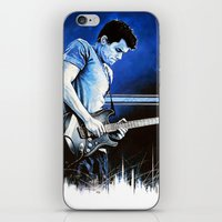 john mayer iPhone & iPod Skins featuring John Mayer Blues by ChrisGreavesArt