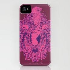 Pink zombie iPhone (4, 4s) Slim Case