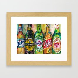 Miller Lite - Guinness- Heineken -Schlitz-Stella Artois Framed Art Print