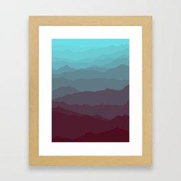 Ombré Range No. 1 Framed Art Print