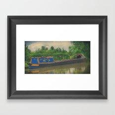 Narrow boat Cassiopeia Framed Art Print