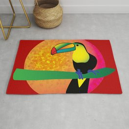 Toucan - Red Rug