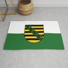 flag of Sachsen (historic state) Rug