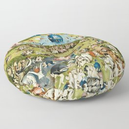 Heironymus Bosch - The Garden Of Earthly Delights Floor Pillow