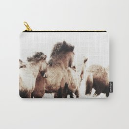 WILD AND FREE 2 - HORSES OF ICELAND Carry-All Pouch