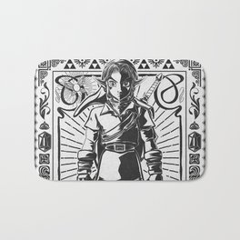 Legend of Zelda - Epic Link Vintage Geek Line Artly Bath Mat