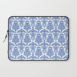 Floral Pattern Blue Laptop Sleeve