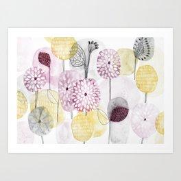 Petals and flowers Art Print