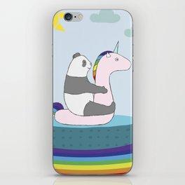 Unicorn Panda Print iPhone Skin
