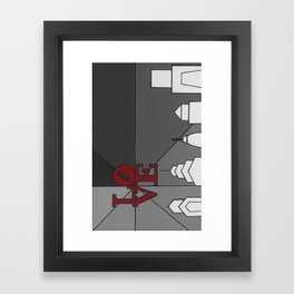 LoveGrey Framed Art Print