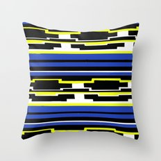 Blue Mexican Pattern Throw Pillow