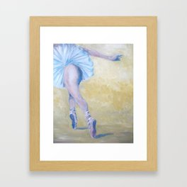 Inspired by Degas - Ballerina in Flight Framed Art Print