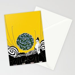 """Art Deco Design """"Selection of the Heart"""" Stationery Cards"""