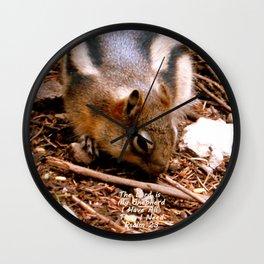 Lord Provides Squirrel Wall Clock