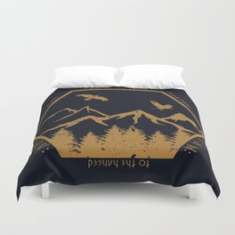 Two ravens flew Duvet Cover