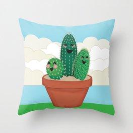 Cactus Friends Throw Pillow