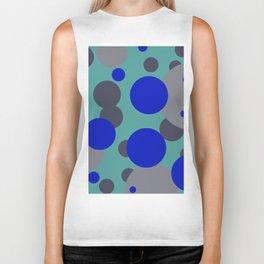 bubbles blue grey turquoise design Biker Tank