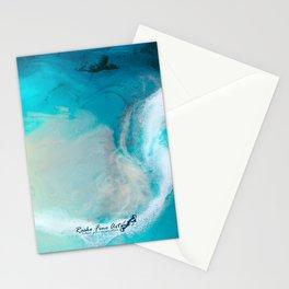 """Swakopmund"" Resin Seascape coastal art, Africa coast in Namibia Stationery Cards"